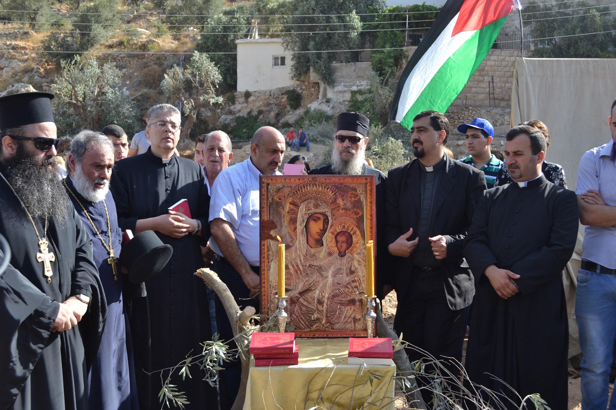 Kolejna faza budowania muru w miejscowości Beit Jala