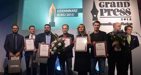 Press nagroda Dziennikarz Roku 2015