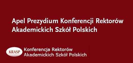 Apel Prezydium Konferencji Rektorów Akademickich Szkół Polskich