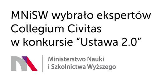 """MNiSW wybrało ekspertów Collegium Civitas w konkursie """"Ustawa 2.0"""""""