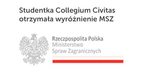 Studentka Collegium Civitas otrzymała wyróżnienie MSZ