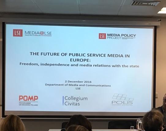 Przyszłość mediów publicznych w Europie (Future of Public Service Media in Europe)