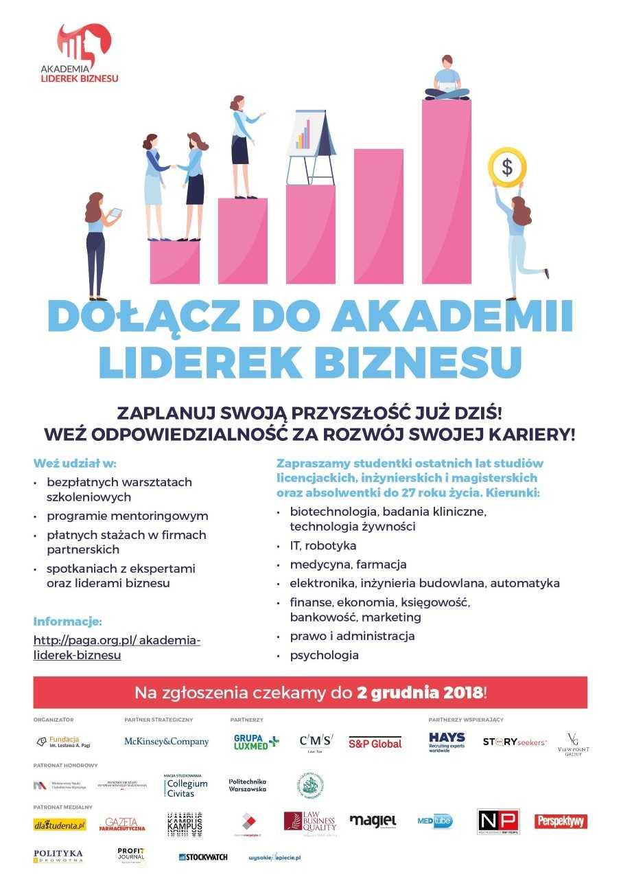 akademia liderek biznesu plakat