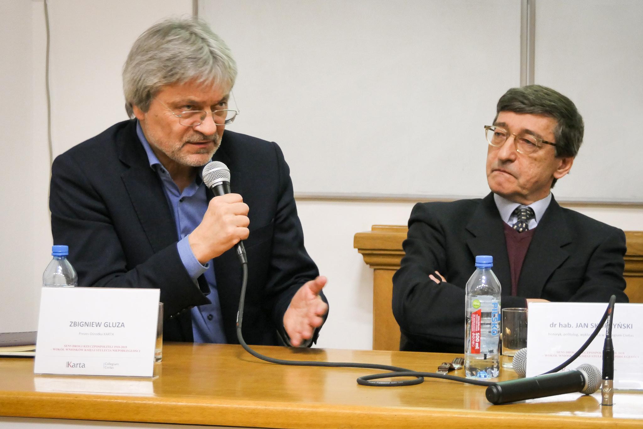 Red. Zbigniew Gluza - debata Sens drogi Rzeczpospolitej 1918-2018