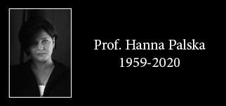 Farewell to Professor Hanna Palska