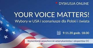 """Debata """"Your voice matters! Wybory w USA – scenariusze dla Polski i świata"""" – relacja"""