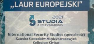 """European Laurel"" for  International Security Studies"