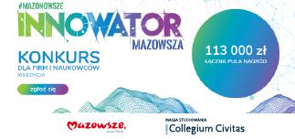 """Collegium Civitas partnerem XIII edycji konkursu """"Innowator Mazowsza""""!"""